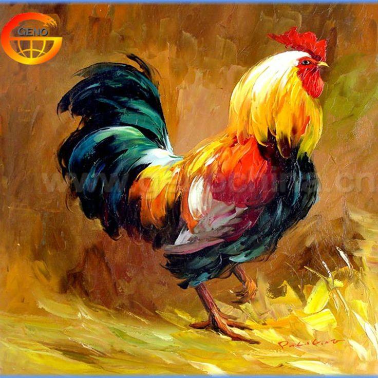 Pollo impresionista pintura al óleo en la lona-imagen-Pintura y Caligrafía-Identificación del producto:1648403328-spanish.alibaba.com