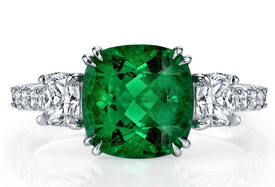 Omi Prive Emerald Ring  Emerald is the color of 2013...LOVE it...I'm green with envy of you May babies