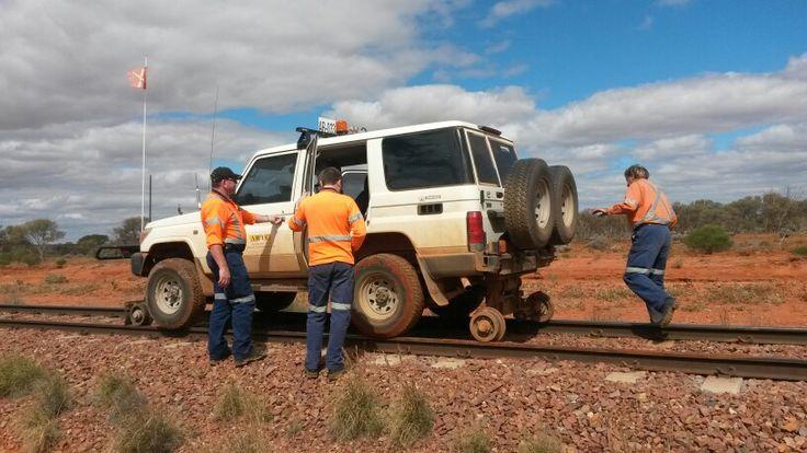 Evacuating the flood zone. Outback SA