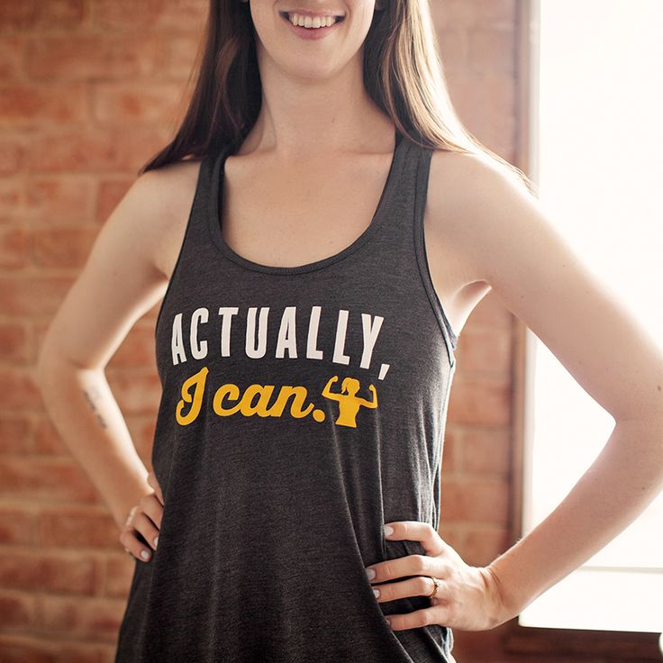 Actually, I can | Women's Flowy Racerback Tank by ASSKICKER INK.  $25.00 CAD