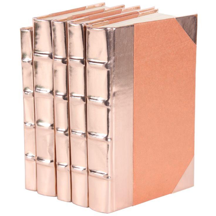 Metallic Rose Gold Book Set of 5 @LaylaGrayce