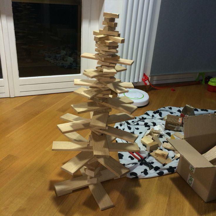 Albero di Natale col parquet