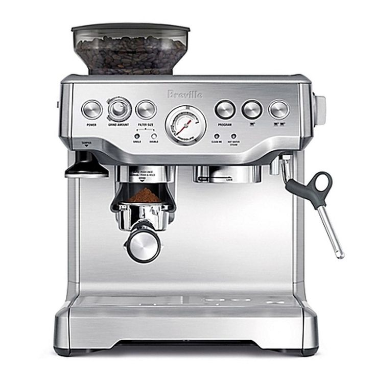 Great Breville Barista Express Besxl Espresso Machine Stainless Steel Burr  Grinder With Cafetera Solac Squissita Plus.
