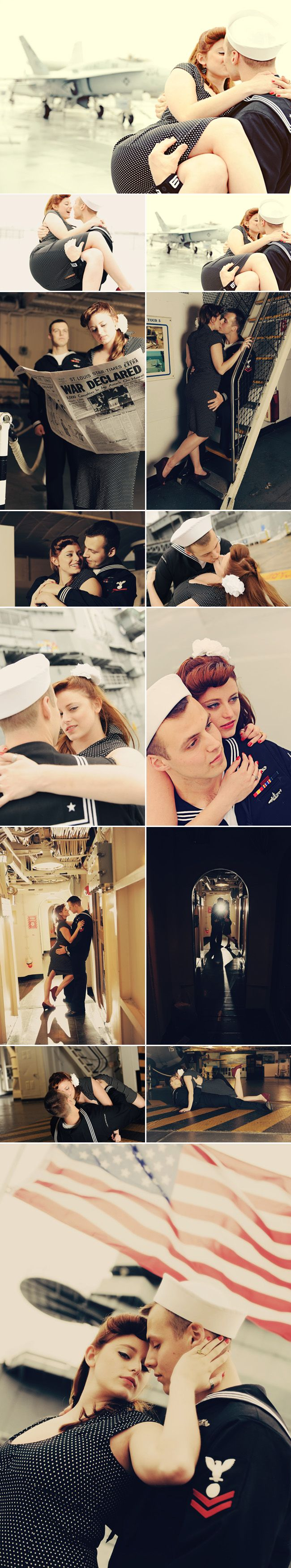 Navy engagement session.<3 Gotta have that Navy dip! ;)