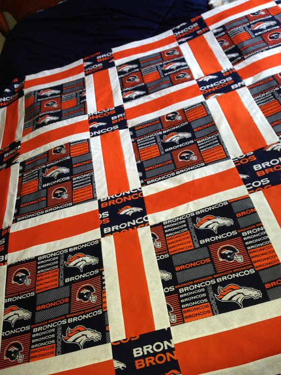 Denver Broncos Quilt by RosehillQuilting on Etsy
