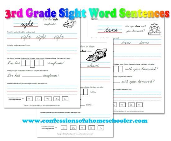 Check out these fun 3rd Grade Sight Word Sentences!