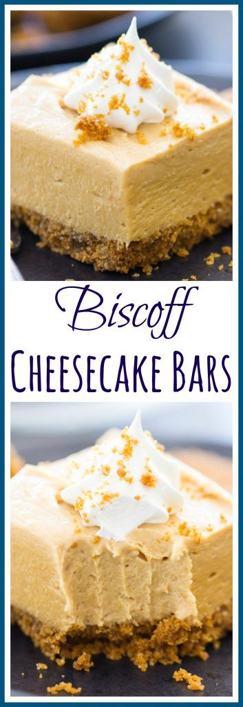 With a sweet, crunchy, cinnamony Biscoff cookie crumb crust and a creamy, fluffy, no-bake cookie butter cheesecake filling!