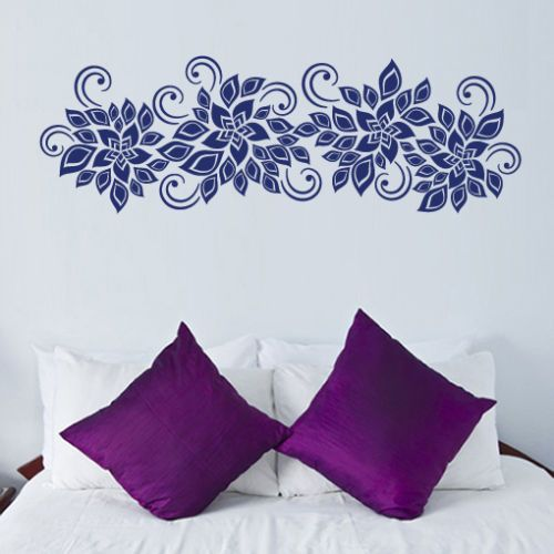 LEAVES-FLOWERS-SWIRLS-floral-foliage-wall-art-sticker-decal-bedroom-lounge-decor