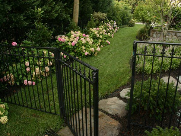 Side yard idea for client who wants black fence