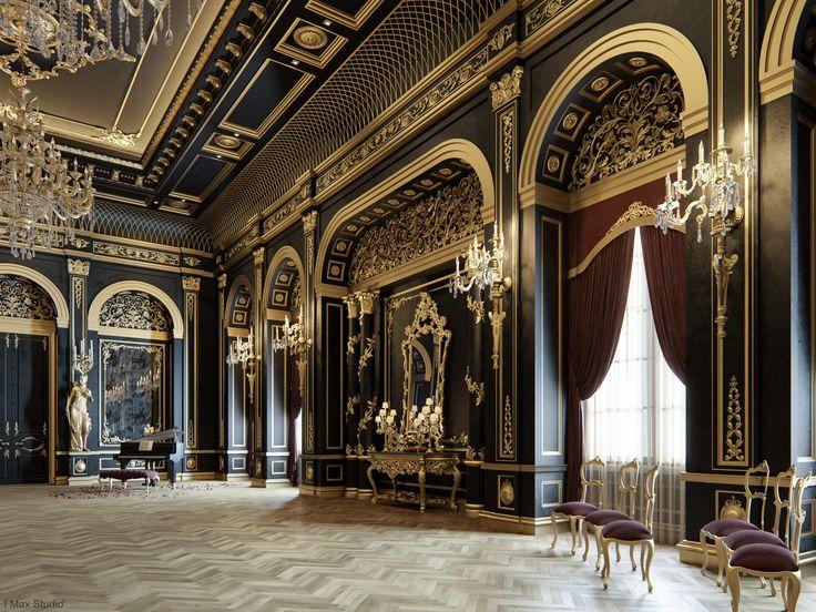 Blackum Mixing Between Gold Black Color In Luxury