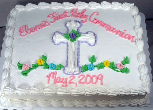 Sheet Cake Cross Google Search First Holy Communion