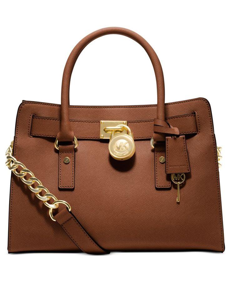MICHAEL Michael Kors Handbag, Hamilton Saffiano Leather E/W Satchel - Shop All Michael Kors Handbags & Accessories - Handbags & Accessories ...