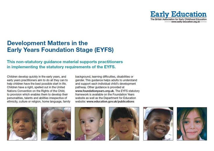 Development Matters in the Early Years Foundation Stage (EYFS)   Early Education