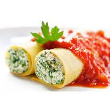 Cannelloni with Napoletana Sauce      2 jars of Aurora Sauce Napoletana 400ml     1 package of Pirro Lasagna Egg 500gr     1 package of frozen chopped spinach     3 1⁄2 cups of ricotta     1 cup of Parmiggiano Reggiano cheese, grated     2 cups of mozzarella, grated     3 large eggs     1 teaspoon of garlic powder     1 teaspoon of Aurora Fine Sea Salt 1kg  http://www.auroraimporting.com/recipes/cannelloni-with-napoletana-sauce/