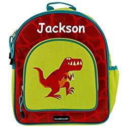 Personalized Crocodile Creek Kids T-Rex Dinosaur Backpack - 14 Inches