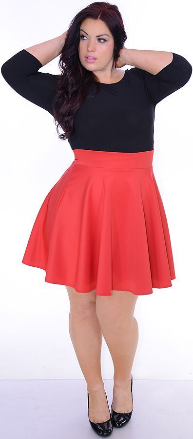 Red black dresses for plus women