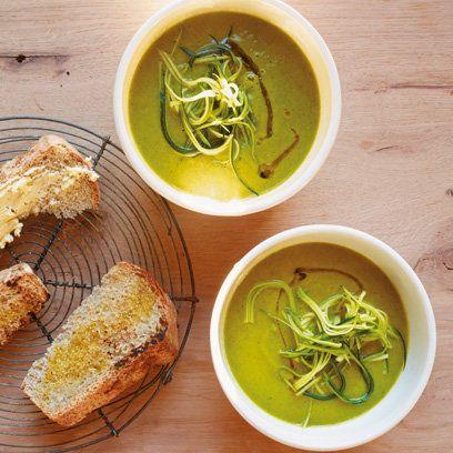 Vegan Curried Leek & Zucchini Soup recipe from LPQ Cookbook
