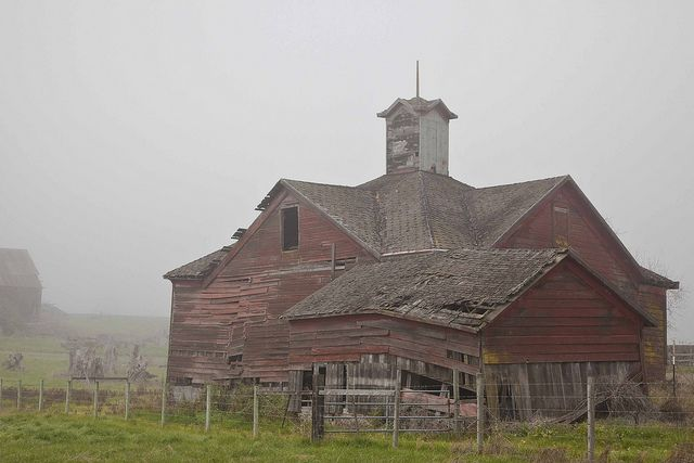 ...old barns-what is it about old barns that speaks to our soul? This would make a great barn to fix up and live in.