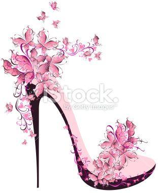 Shoe Illustration :: Floral High Heel