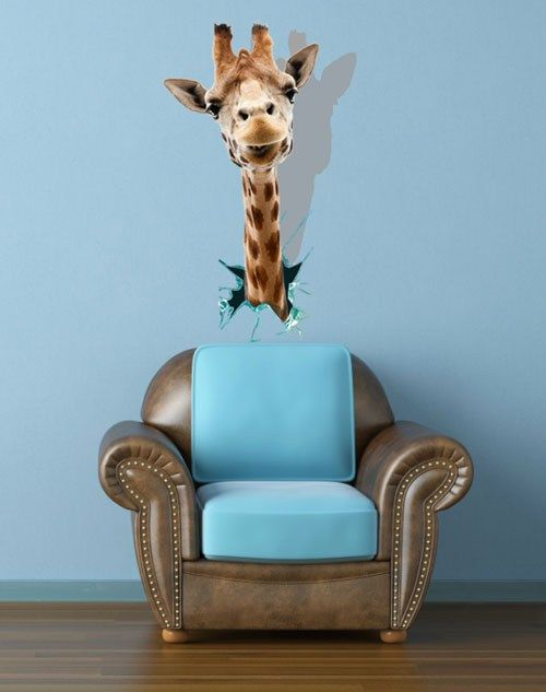 giraffe head wall decal painting decor removable wall stickers giraffe wall sticker contemporary wall stickers