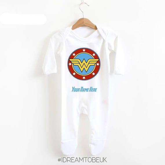 Wonder Woman Sleep suit  personalised romper marvel the