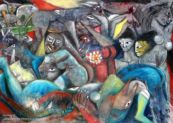 MALANGATANA | Valente MALANGATANA Ngwenya, Mozambique - painter, ceramicist, muscian and poet. PAINTINGS > available works by Valente Malangatana Ngwenya