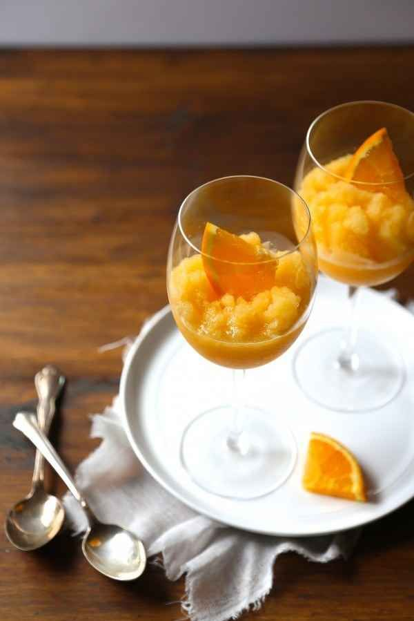 Orange Peach Mimosa Slushies