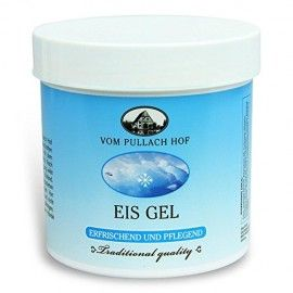 GEL RACORITOR - EIS GEL. Formula germana deosebit de bine tolerata. Gel cu efect local de racire, calmeaza durerile musculare si articulare, eficient in cazul picioarelor umflate si obosite, dupa activitati sportive. Gelul pătrunde foarte repede în piele, conferă o stare de racoare si relaxare, are efect de revigorare si miros plăcut. Mod de utilizare: gelul răcoritor se aplică într-un strat subțire și se masează ușor. Cantitate 250 ml