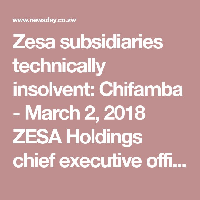 Zimbabwe electricity provider ZESA Holdings' insolvency raises questions about the regulation of electricity tariffs and whether and/or how governments ensure electricity is provided to the poor.