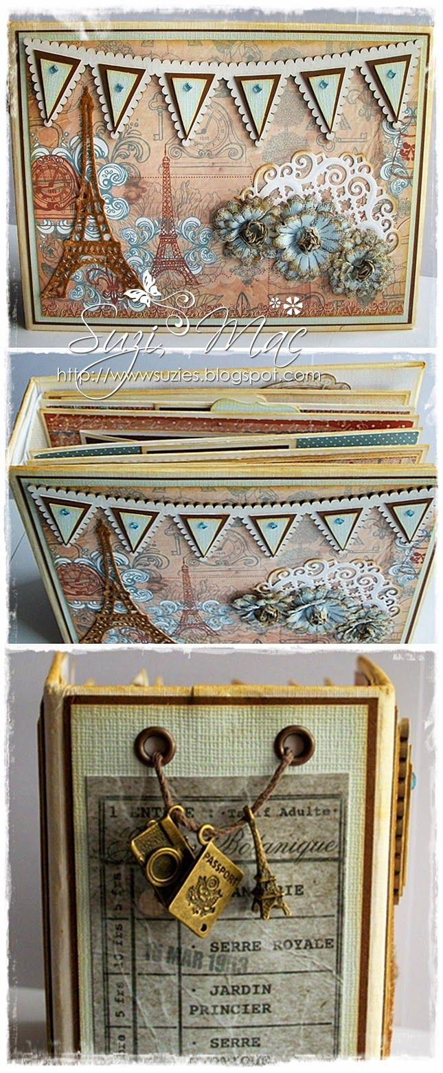 How to scrapbook on a mac - Here Is Another Cute Mini Album Made Using Primamarketing Enfrancoispapers Eiffeltower Charms