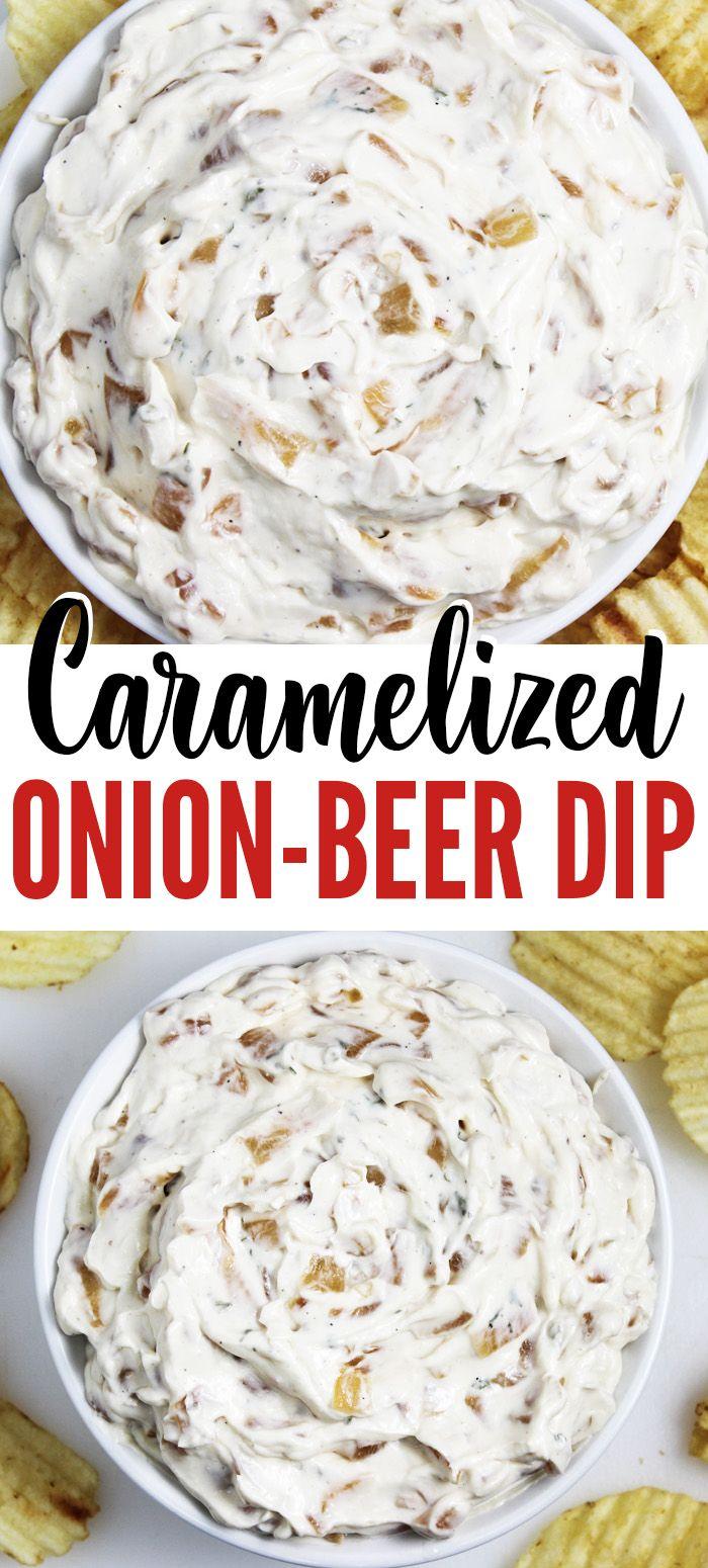 Caramelized Onion Beer Dip Recipe Beer Dip Dip Recipes Food Recipes
