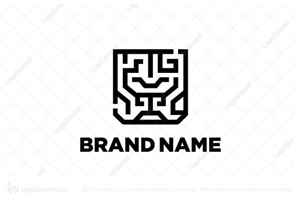 Logo for sale: Labirin Lion Logo