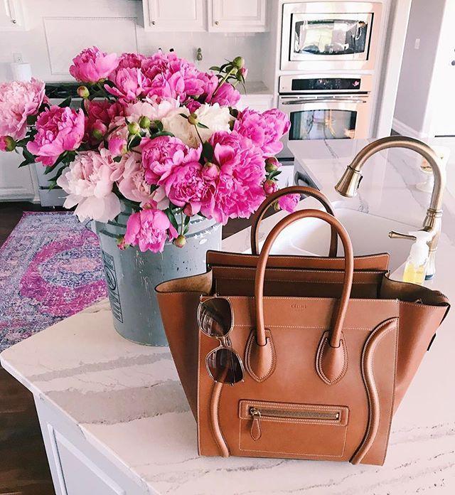 tan celine mini luggage, tulsa fashion blog