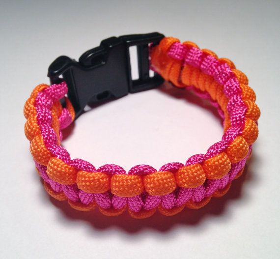 SALE // Free Shipping // Paracord Bracelet // Pink by HMKHandmade
