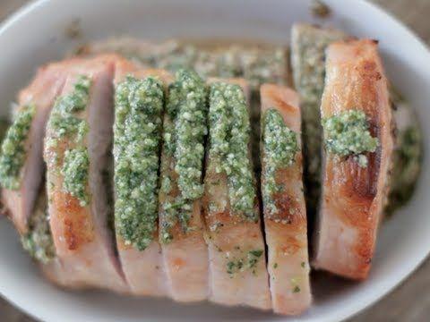 Walnut Pesto-Stuffed Pork Roast - YouTube