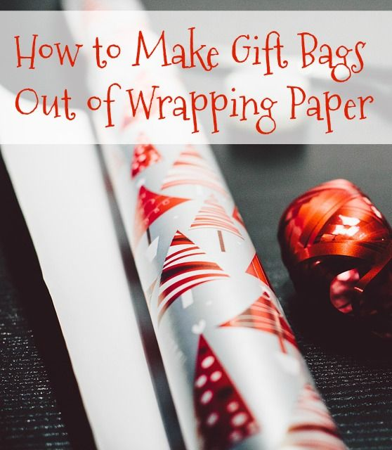 How to Make Gift Bags Out of Wrapping Paper! This easy hack will definitely save you in a pinch.