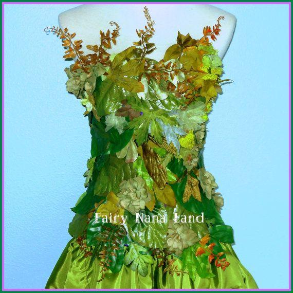 Fairy Costume - Woodland Faerie - Earth Fairy - adult size largeEarth Fairy Costume