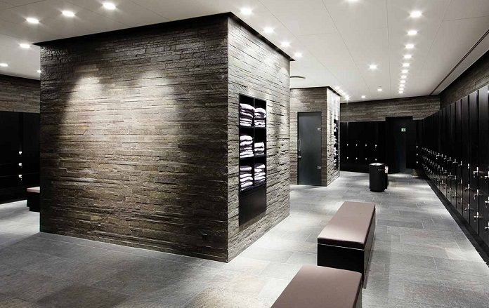 Locker room designs gym changing pinterest