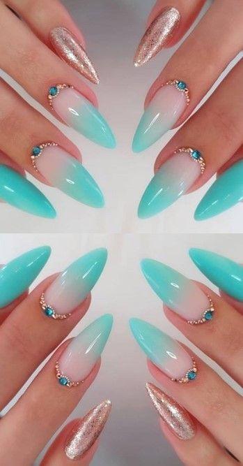 ✔ 72 Fabulous Ways tо Wear Glitter Nails Lіkе а Princess – Gelnägel