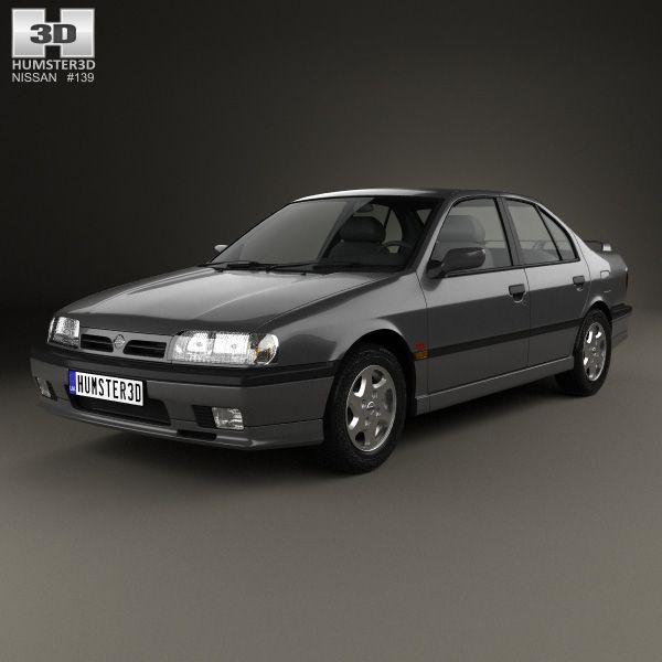 Nissan Primera 1990 3d model from Humster3D.com.