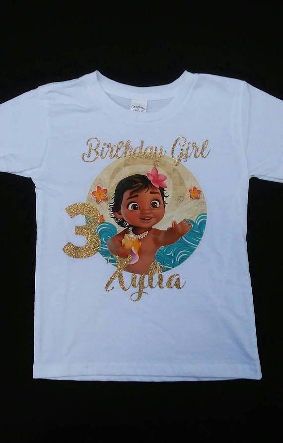 Baby Moana Birthday Girl Shirt