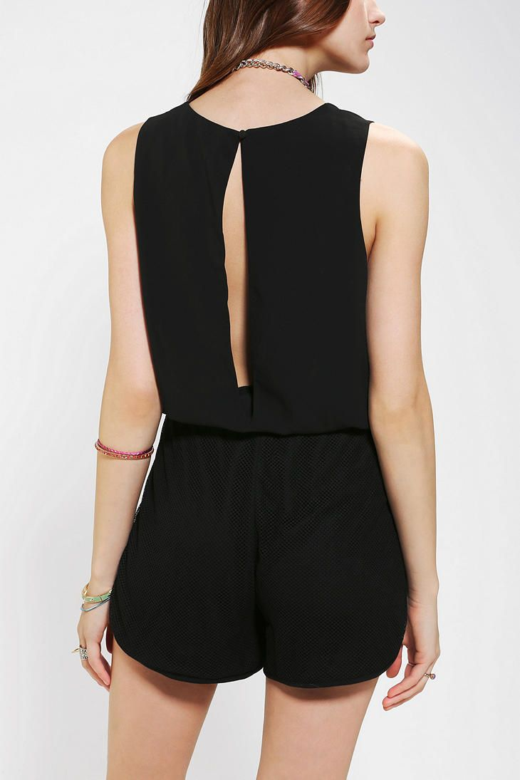 Sparkle & Fade Mesh Romper form Urban Outfitters    Get 5% cash back when you shop here: http://studentrate.com/bentley/get-bentley-student-deals/Urban-Outfitters-Student-Discounts--/0