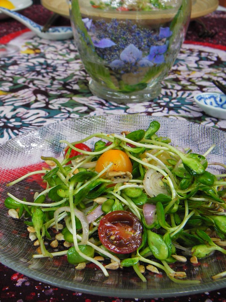 Sunflower Sprouts Salad with Chili-Lime vinaigrette YumMed Tan TawanNgawk July 15, 2010 – YesterdayI was at the Columbia Farmers Market. While waiting for my friend, I visited the Alm Hill…