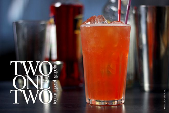 Two One Two - Aperol and Tequila drink.