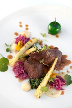 Ostrich fillet with sweet potato puree, red cabbage kimchi and salted caramel toffee apple with a zesty apple cider jus @ Delheim Wine Estate for their Riverside Picnics - 1st October 2017!