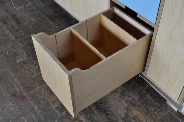 lid dividers in cabinets by Kerf Design   Plywood kitchen ...