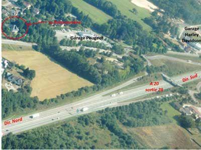 Vue aérienne des Chambres d'hôtes à vendre à Limoges