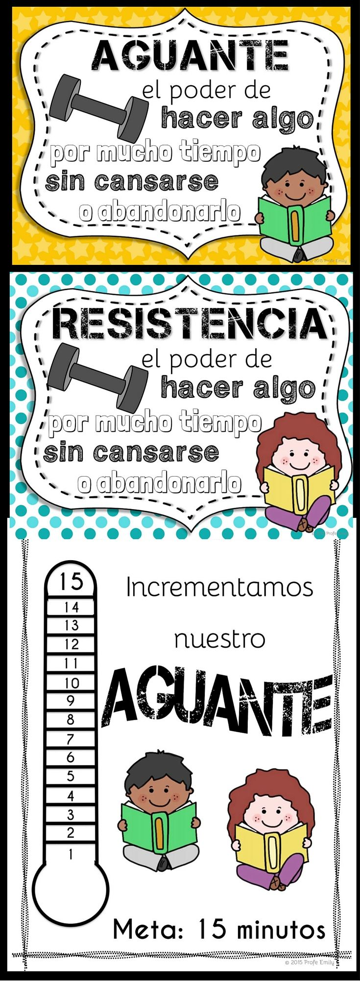 Get ready for the start of the school year with this Spanish stamina mini-kit! Great for Daily 5 or literacy centers in dual language classrooms!