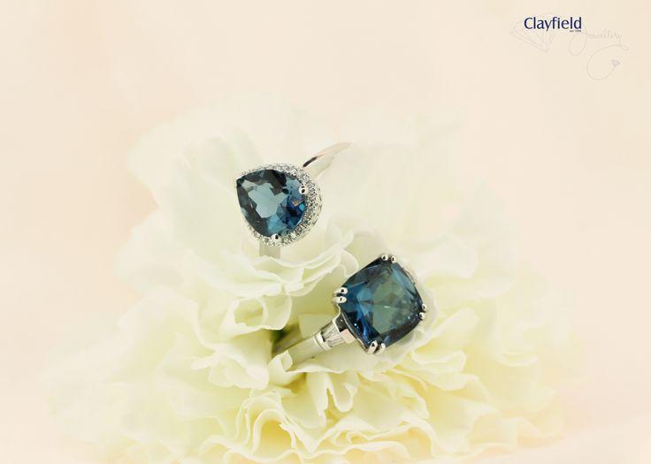London blue topaz rings, by Clayfield Jewellery in Nundah Village - North Brisbane
