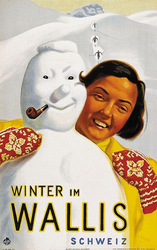 Hermès Eric - Winter im Wallis